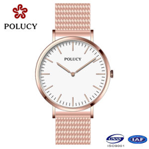 Fashion Watch Quartz Movt Stainless Steel Case with Mesh Band pictures & photos