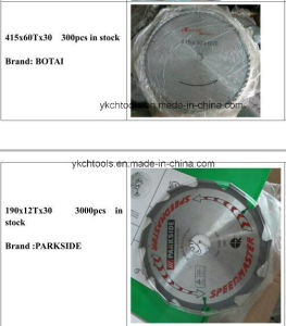 Tct Saw Blade for Wood ---Different Size Stock Clear pictures & photos