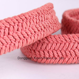 Polyester Twine Weaving Double-Ring Buckle Women Belt for Gift pictures & photos