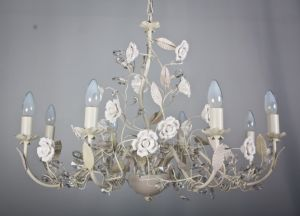 China Top Sale Flory Green +Pink Chandelier pictures & photos
