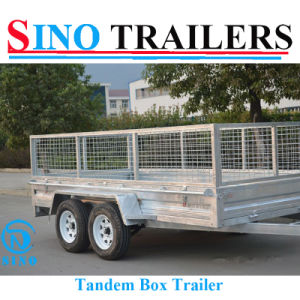 Hot Dipped Galvanized Tandem Medium Duty Box Trailer pictures & photos
