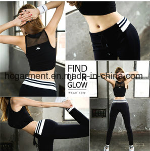 Sex Running Wear for Lady, Blace Lace Sports Suit pictures & photos