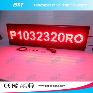 P10 Red Color Semi-Outdoor LED Moving Sign pictures & photos