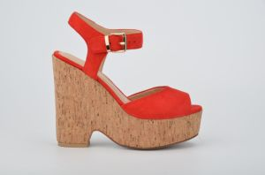 Lady Casual High Heels Cork Platform Women Wedge Sandals pictures & photos