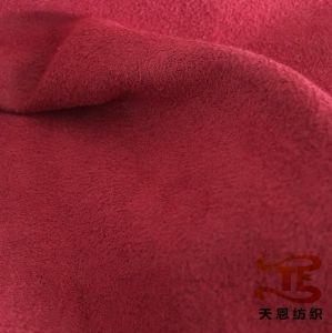 100% Polyester Suede Fabric Sofa Fabric Home Textile Fabric Upholstery Fabric pictures & photos
