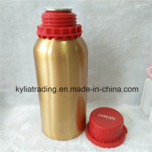 500ml Gold Empty Essential Oil Aluminum Bottle with Pilfer Proof Cap Aeob-10 pictures & photos