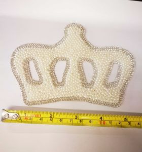Crown Pearls and Rhinestones Diamond Heat Transfers for Wedding Accessories (TPE-Pearl Crown) pictures & photos