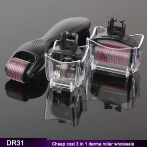Dr31 3 in 1 Derma Roller 180/600/1200 Needles Microneedling Dermaroller From Manufacturer pictures & photos