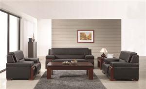 Antique Design Black Office Wooden Sofa Set for USA Market Foh-6609 pictures & photos