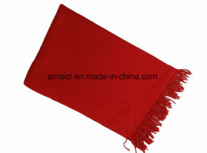 Acrylic Solid Dyed with Tassel Winter Scarf for Ladies (ABF22004006-1) pictures & photos