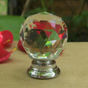 Factory Price Crystal Glass Furniture Drawer Kitchen Cabinet Door Handle Knob (CK 001) pictures & photos