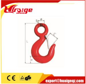 Grade 80 Alloy Steel Eye Sling Hook with Safety Latch pictures & photos