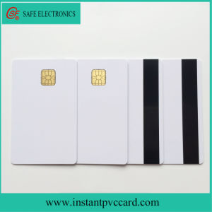 White 4428 Chip PVC Card with Hico Magnetic Stripe pictures & photos