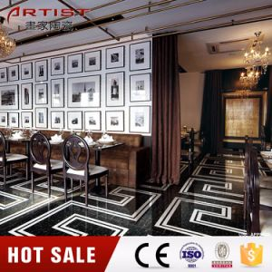 600X600mm Cheap Pulati Black Polished Porcelain Tile pictures & photos