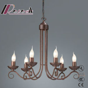 Decoration and Simple Antique Iron Chandelier of Dining Room pictures & photos