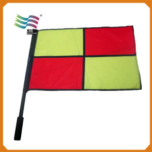 Promotion Custom Outdoor Polyester Advertising Hand Flag (HYHF-AF033) pictures & photos