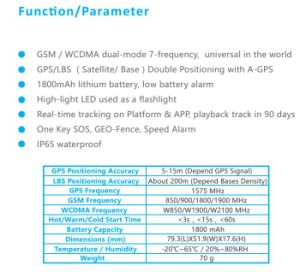 3G Asset GPS Tracker with High LED Light and Sos Button 1800mAh Support WiFi (GPT06-3G) pictures & photos