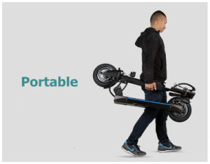 250W Foldable Lithium Battery Brushless Motor Electric Scooter pictures & photos