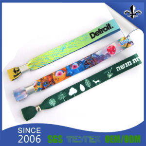 Fashion Polyester Wristband with Sublimation Logo pictures & photos