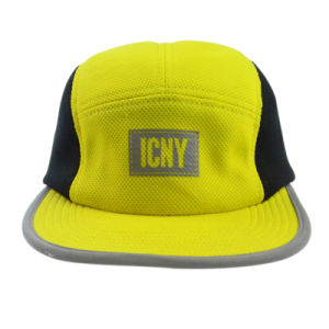 Causal Yellow Ployester Supreme Hat Camper Cap Snapback Cap Hat pictures & photos