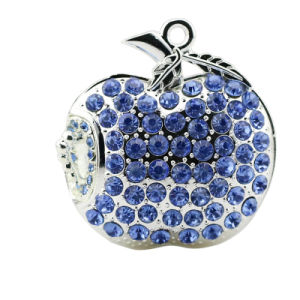 Jewellry Apple USB Flash Drive Memory Stick Crystal Pendrive 16GB pictures & photos