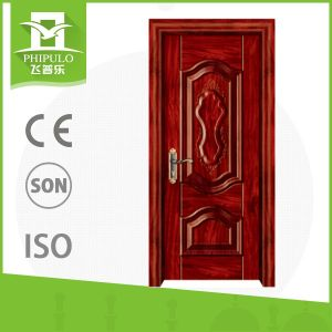 High Quality Lara Natural Walnut Finished Wooden Door pictures & photos