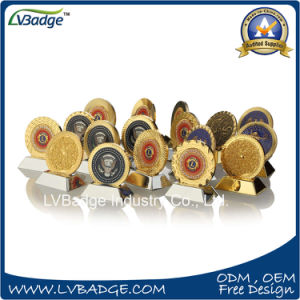 Customized Challenge Coin with Diamond Edge Design pictures & photos