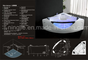Hot Sales Triangle Acrylict Bathroom Jacuzzi Massage Bathtub (512) pictures & photos