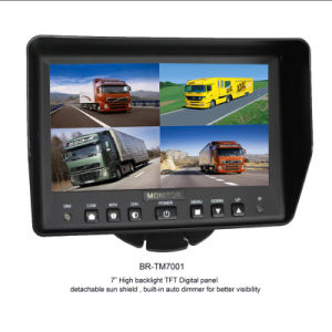 Bus Surveillance System/7inch Quad Split Car Monitor/Ceiling Camera pictures & photos