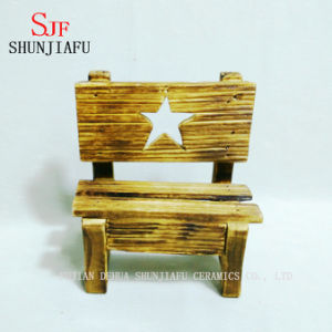 Five-Pointed Star Promotion Cheap Wood Arm Chair pictures & photos