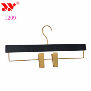Flat Hook Rubberized Pants Hanger with Clips pictures & photos