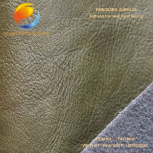 Fashion Style PU Bag Fabric of Synthetic Leather with Embossed Surface Fpa17m7a pictures & photos