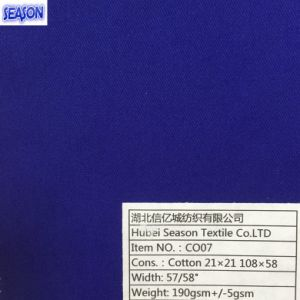 Cotton 21*21 108*58 190GSM Twill Woven Cotton Fabric Workwear Clothes Textile pictures & photos