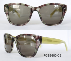2017 New Fashion Design of Acetate Sunglasses for Ladies and Woman pictures & photos