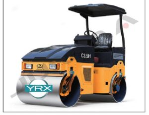 Ce Approved 3500kg Full Hydraulic Double Drum Vibratory Roller pictures & photos