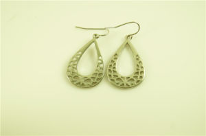 Textured Openwork Alloy Earring