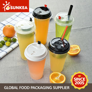 Thick Wall Disposable PP Plastic Cup with PP Lid pictures & photos