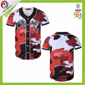 Camo Customized Baseball Jersey with Wholesale Price pictures & photos
