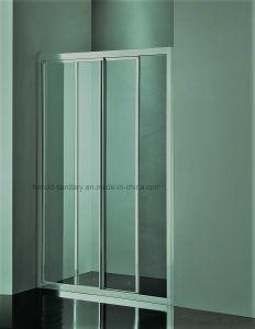 Hr-P035-D Aluminum Profile Handle Straight 2 Panels Shower Door pictures & photos