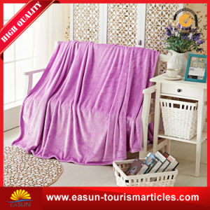100% Microfiber Fleece Knitted Throw Blanket pictures & photos
