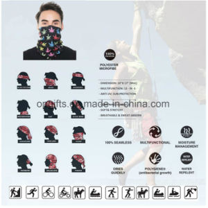 Promotional Custom Outdoor Microfiber Headwear Multifunctional Bandanas Headwear Scarf pictures & photos