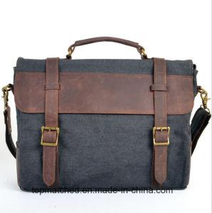 New Style Canvas Bag Canvas Leather Shoulder Messenger Bag pictures & photos