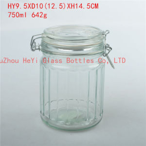 Glass Seal Jar with Lid Food Glass Jar Storage Glass Container