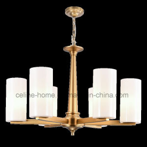 Modern Metal Chandelier Lighting with Glass Shade (SL2283-6) pictures & photos