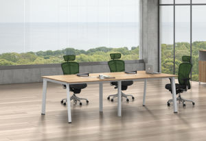 White Customized Metal Steel Office Conference Table Frame with Ht98-3 pictures & photos