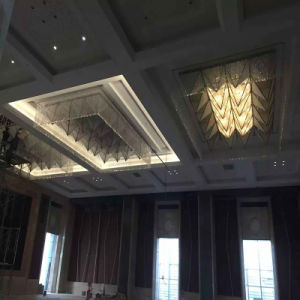 Fashion Square Crystal and Fabric ceiling Lamp with Hotel pictures & photos