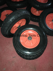 145/70-6 Flat Free PU Foam Wheel pictures & photos