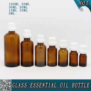 5ml 10ml 15ml 20ml 30ml 50ml 100m Amber Glass Essential Oil Bottle with Childproof Tamperproof Cap pictures & photos