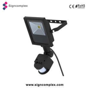Slim COB LED Flood Sensor Light, LED Flood Light Spotlight 10W with PIR with Ce RoHS pictures & photos