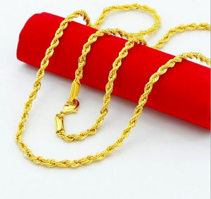 Gold Plating Stainless Steel Rope Chain for Fashion Necklace and Bracelet pictures & photos